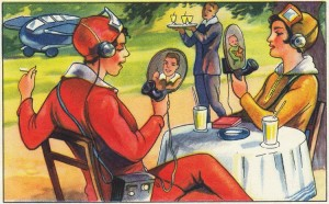 Weimar cartoon predicts 'wireless home phone & TV'. Great starter from bit.ly[f-slash]1rzL8U3