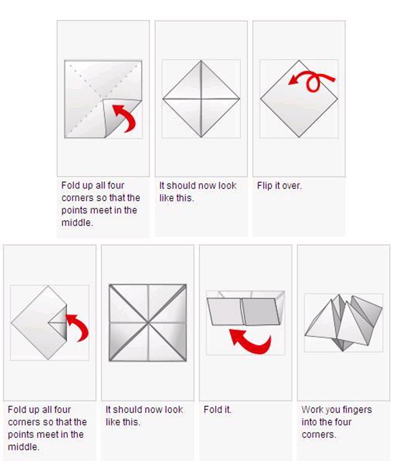 Origami chatterbox instructions tutorial origami handmade for How to make a chatterbox template