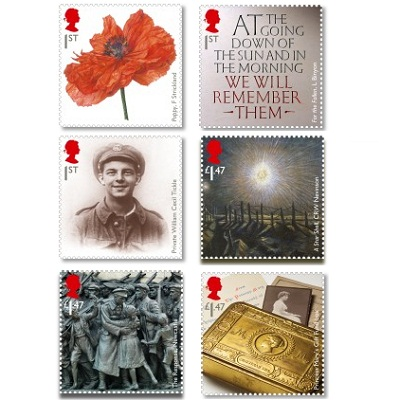 Royal Mail WW1 stamps