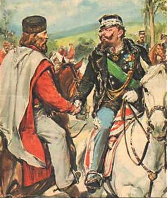 Garibaldi and Victor Emanuel II