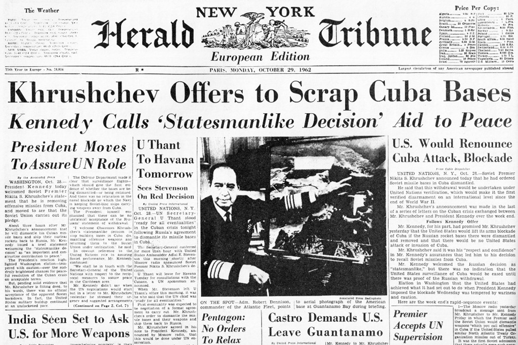 End of Cuban Missile Crisis