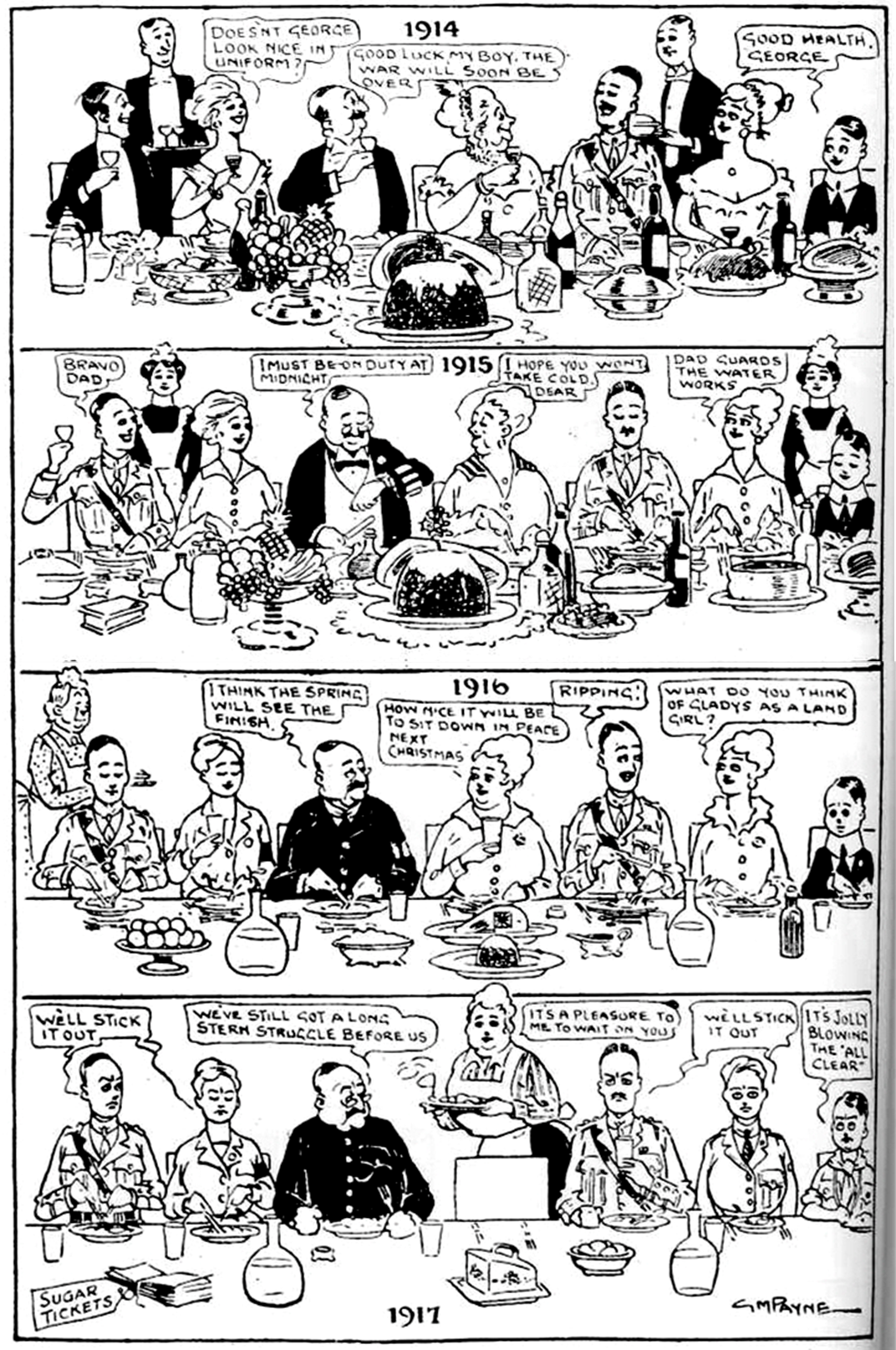 The Brown Family S Four War Christmases Cartoon History