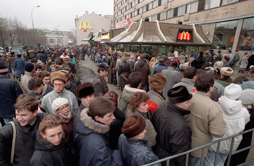 First McDonald's in the USSR