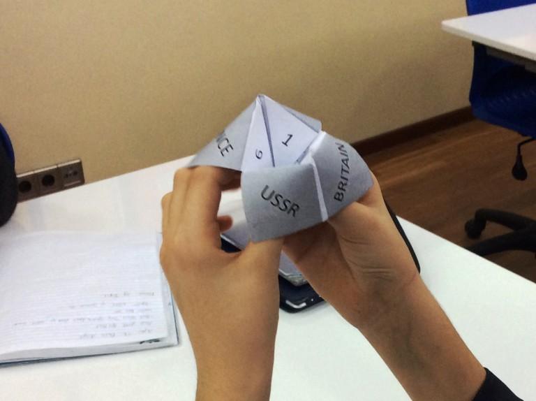 Editable \'fortune teller\' template for plenaries and peer ...