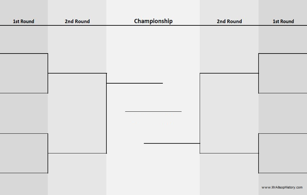 Eight team bracket