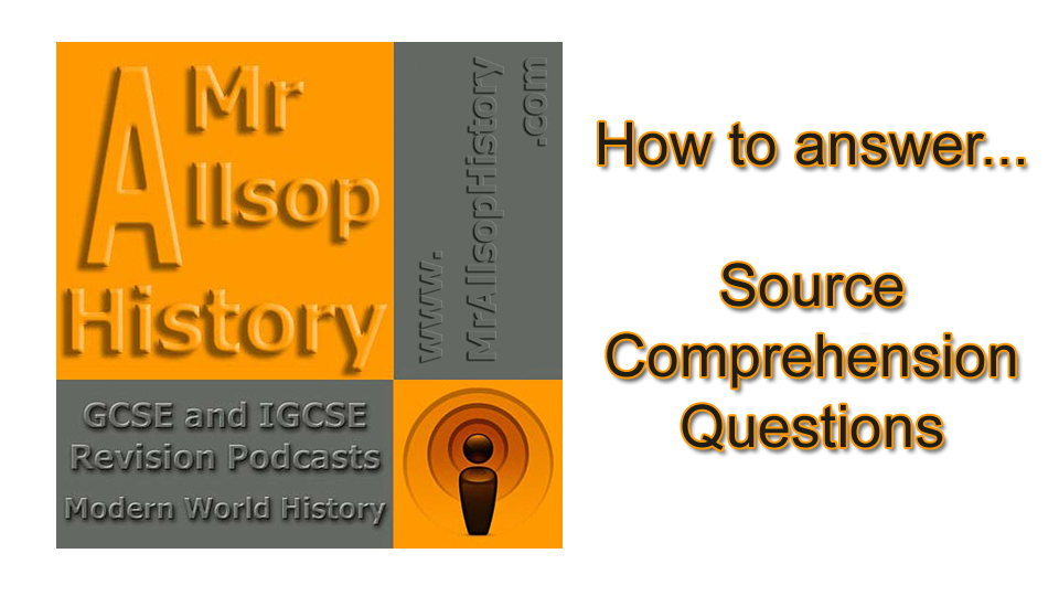 GCSE History source comprehension