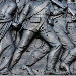 Franco-Prussian war monument in Berlin scarred by subsequent conflict. Good starter