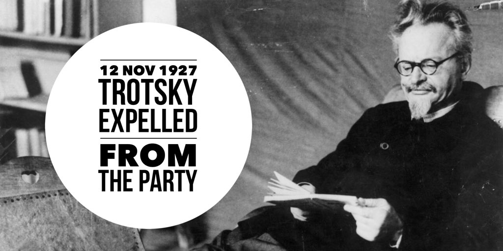 Trotsky expelled from the Communist Party