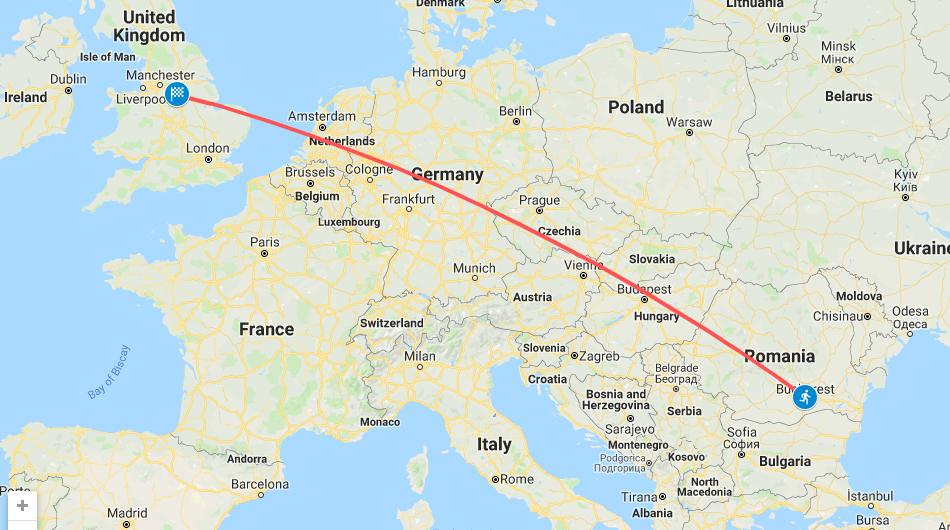Bucharest to Ashgate Hospice Virtual Run